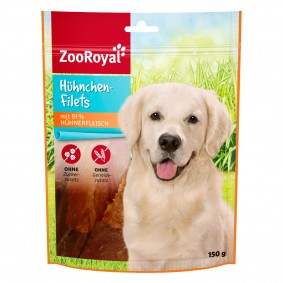 ZooRoyal Hundesnack Hühnchen-Filets XXL 7x150g