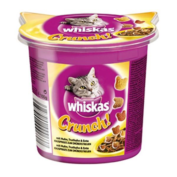 Whiskas Crunch mit Huhn, Truthahn und Ente 100g