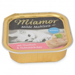 Miamor Katzenfutter milde Mahlzeit Kitten Thunfisch und Huhnstücke
