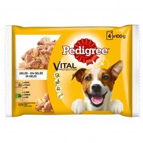 Pedigree Hundefutter Huhn, Rind und Gemüse in Sauce 4x100g