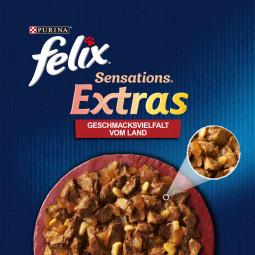 FELIX Sensations Extras in Gelee Geschmacksvielfalt vom Land 12x85g