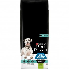 Pro Plan Hundefutter Large Athletic Adult für sensible Verdauung mit OPTIDIGEST reich an Lamm 14kg