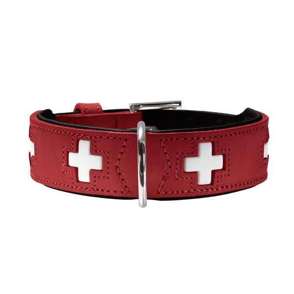 Hunter Halsband Swiss nickel Rot/Schwarz