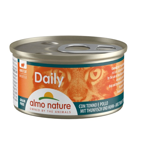 Almo Nature PFC Daily Menu Cat Mousse mit Thunfisch und Huhn