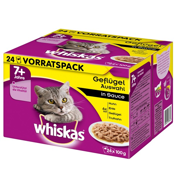 Whiskas Senior 7+ Geflügelauswahl in Sauce