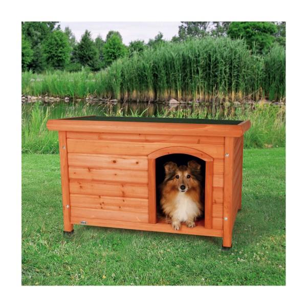 Trixie Flachdach Hundehütte Natura M, 85x58x60cm