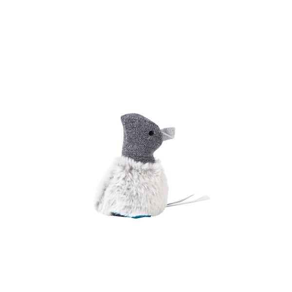 ZooRoyal Katzenspielzeug Maus mit Katzenminze grau