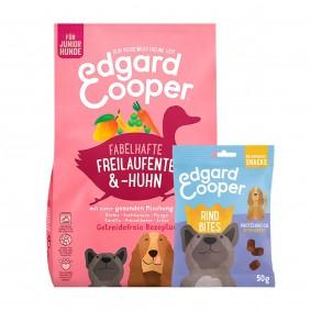 Edgard & Cooper Junior Freilaufente & Huhn 12kg + 50g Bites Rind gratis