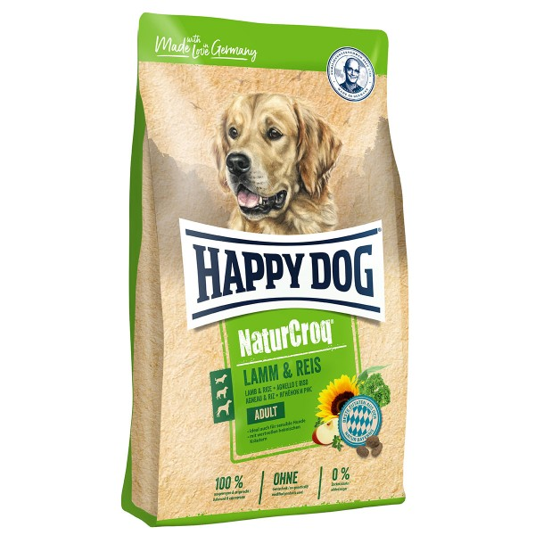 Happy Dog NaturCroq Lamm & Reis