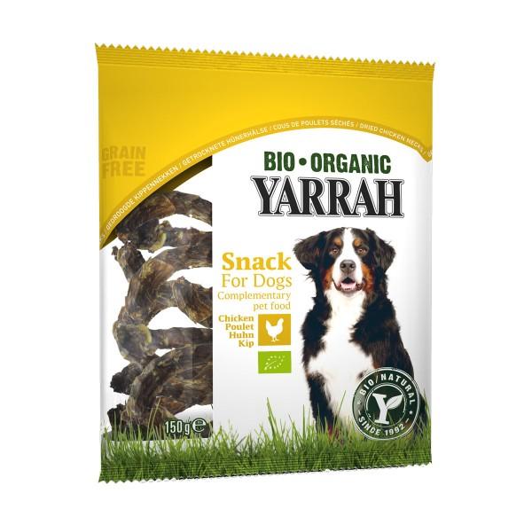 Yarrah Hundesnack Bio Hühnerhälse getrocknet 150g