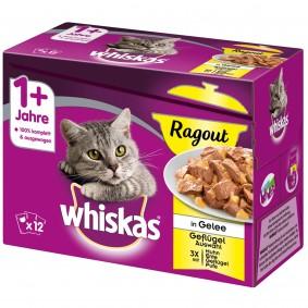 Whiskas Adult 1+ Ragout Geflügelauswahl in Gelee