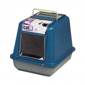 Catit Katzentoilette mit Dach schattenblau