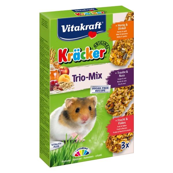 Vitakraft Hamster Kräcker Trio Mix mit Honig, Nuss und Frucht