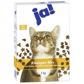 ja! Katzenfutter Knusper-Mix Geflügel 1kg