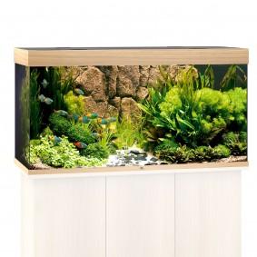 Juwel Rio 350 LED Komplett Aquarium ohne Schrank helles holz