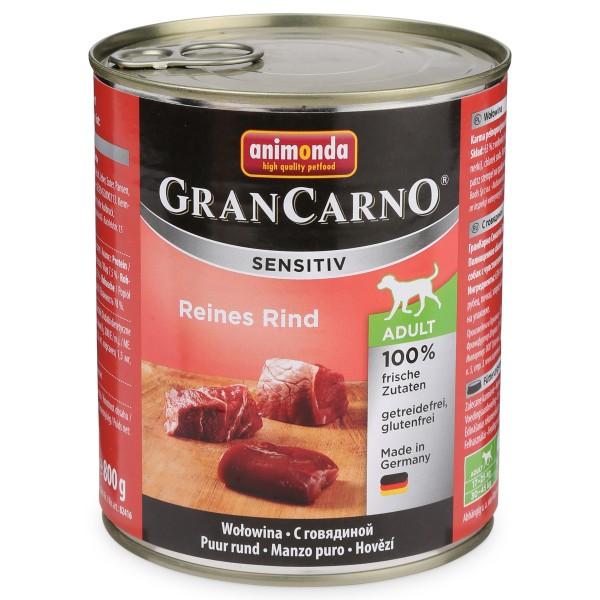 Animonda Hunde-Nassfutter Grancarno Sensitiv Reines Rind