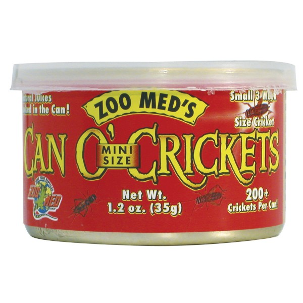 Zoo Med Can o' Crickets Mini Size 35g