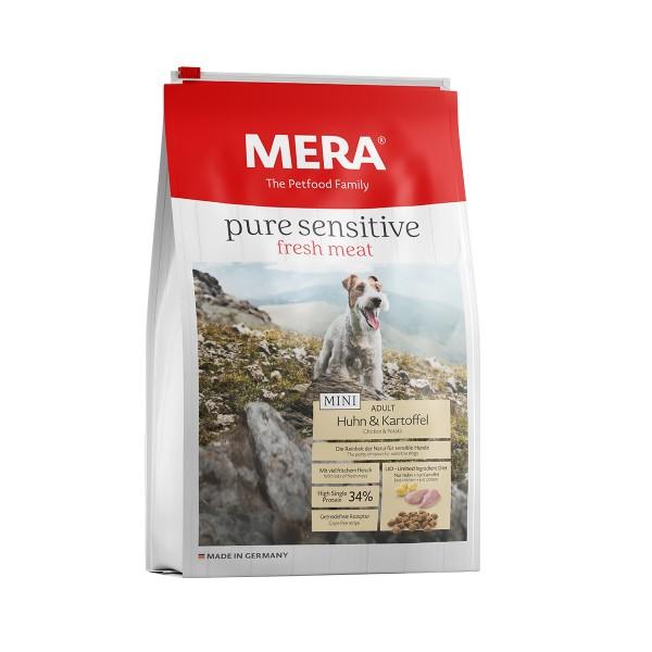 MERA pure sensitive Trockenfutter MINI fresh meat Huhn&Kartoffel High Protein
