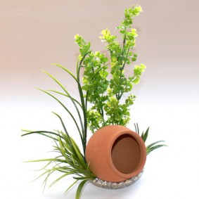 Plante artificielle pour aquarium Jar Plant – Pot