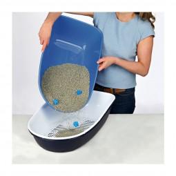 Trixie - Bac à litière pour chats avec couvercle Berto - bleu