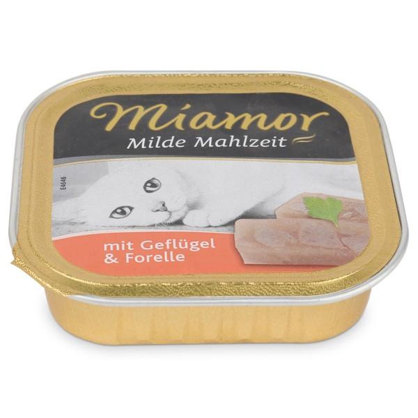 Miamor Katzenfutter milde Mahlzeit Geflügel und Forelle