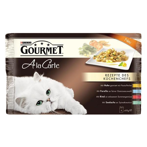 Gourmet Nassfutter Rezepte des Küchenchefs 4er Pack (4x85g)