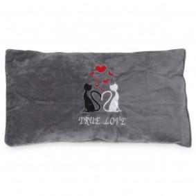 Aumüller Spielkissen True Love Plüsch mit Silver Vine und Dinkelspelz