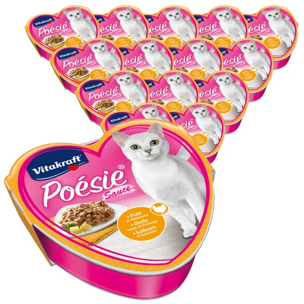 Vitakraft Katzenfutter Poésie mit Pute in Käsesauce 15x85g