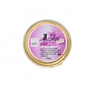 catz finefood Fillets N°411 Pute, Huhn & Lamm in Jelly