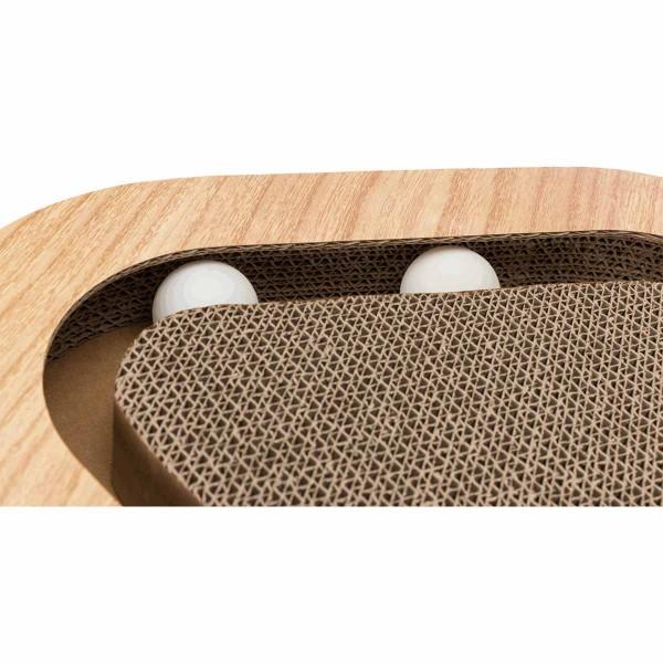 Trixie Kratzpappe in Holzoptik mit zwei Spielbällen