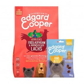 Edgard & Cooper Senior Frisches Huhn & Lachs 12kg + 50g Bites Rind gratis