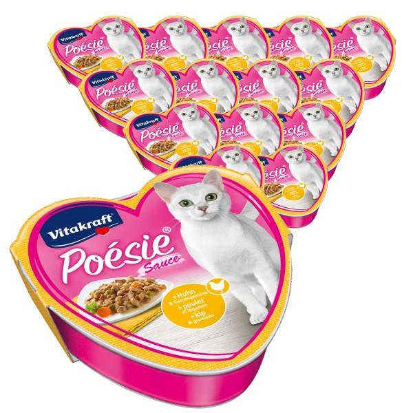 Vitakraft Katzenfutter Poésie mit Huhn und Gartengemüse in Sauce 15x85g