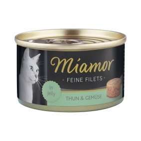 Miamor Katzenfutter Feine Filets in Jelly Thunfisch und Gemüse