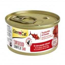 GimCat Superfood ShinyCat Duo Thunfischfilet mit Tomaten