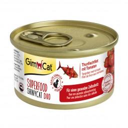 GimCat Superfood ShinyCat Duo Thunfischfilet mit Tomaten