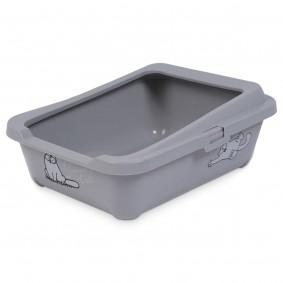 Simon's Cat Bac à litière gris pour chat
