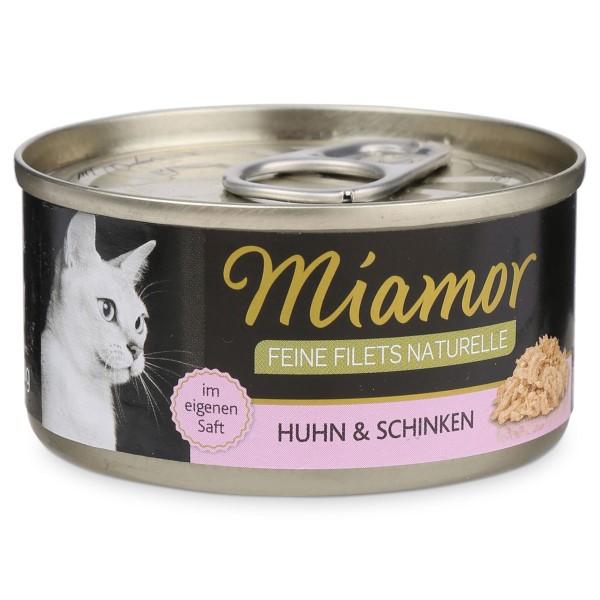Miamor Feine Filets Naturelle Huhn und Schinken 80g Dose