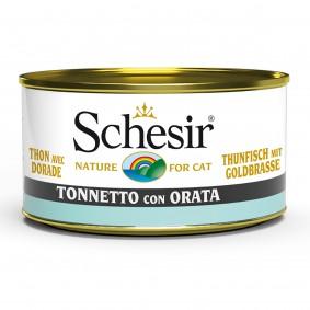 Schesir Cat Thunfisch mit Goldbrasse 85g