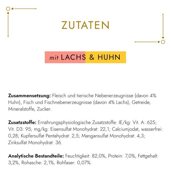 GOURMET Gold Zarte Häppchen Katzennassfutter mit Lachs & Huhn