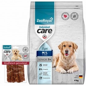 ZooRoyal Individual Care Senior/Light 4kg + Snack gratis