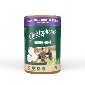 Christopherus Hundemenü mit Fasan, Amaranth und Pastinake