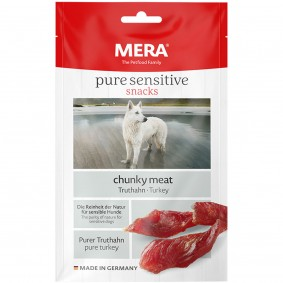 MERA pure sensitive snacks chunky meat Truthahn