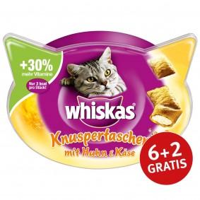 Whiskas Knuspertaschen Huhn & Käse 60g 6+2 gratis