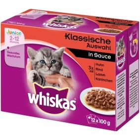 Whiskas Junior Klassische Auswahl in Sauce Multipack 12x100g