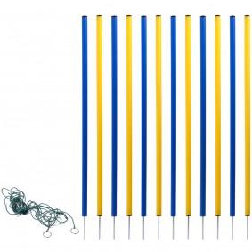 dobar 12-teiliges Agility Slalom Set inkl. Tragetasche