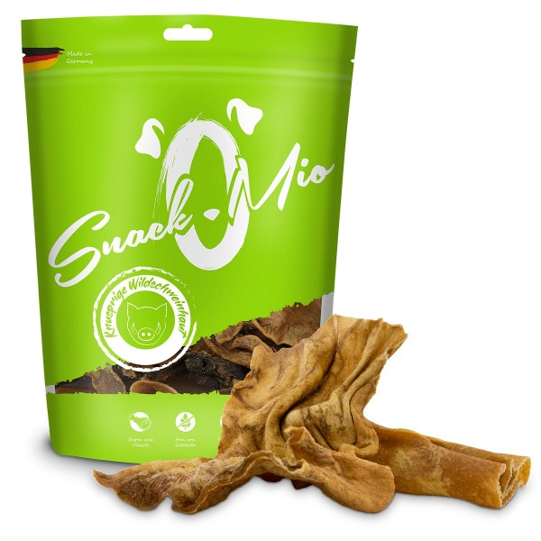 SnackOMio - knusprige Wildschweinhaut 250g und knusprige Rehhaut 350g