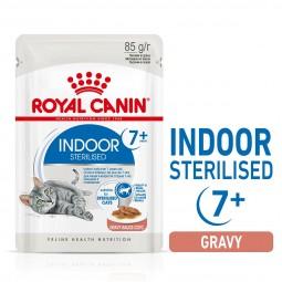 ROYAL CANIN INDOOR 7+ Sterilised in Soße Nassfutter für Wohnungskatzen ab 7 Jahren