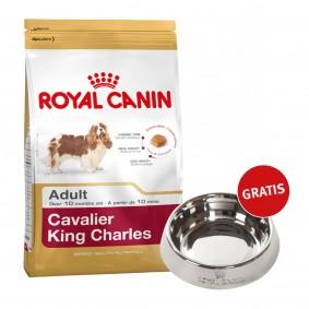 Royal Canin Cavalier King Charles Adult 7,5kg + Edelstahlnapf silber gratis