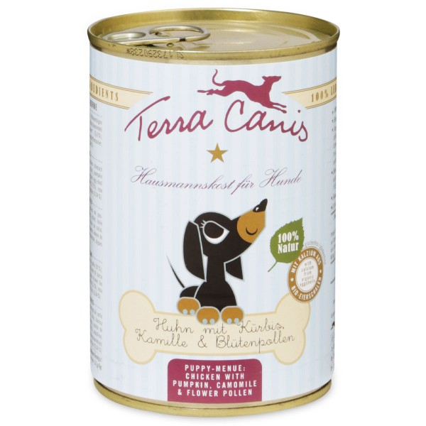 Terra Canis für Welpen Huhn mit Kürbis, Kamille und Blütenpollen