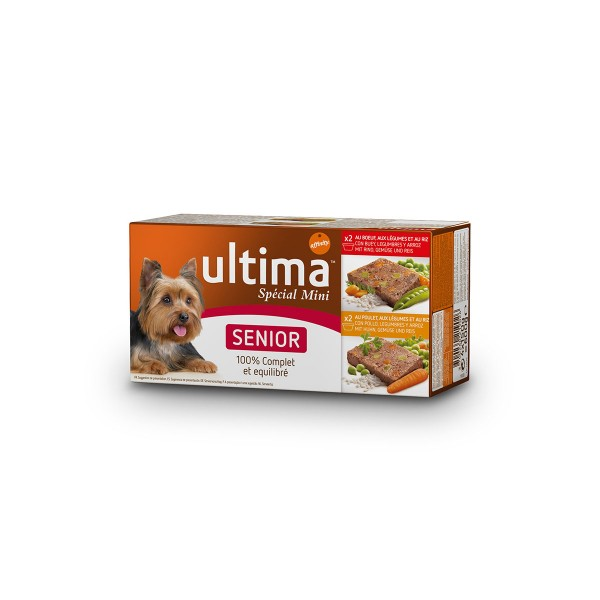 Ultima Dog Nassfutter Multipack Senior 4x150g